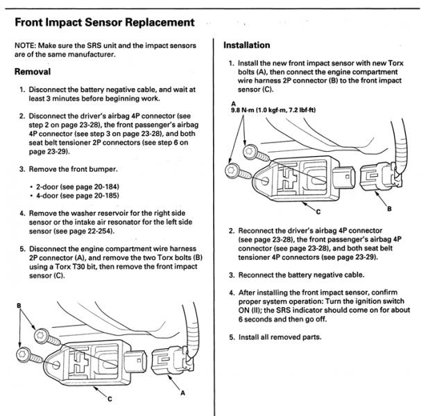 What to do with front impact sensor during bodywork? | Drive Accord Honda  ForumsDrive Accord