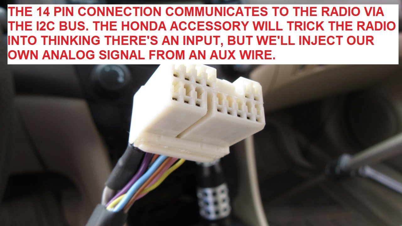 DIY: $1 AUX Input ! | Drive Accord Honda Forums Xm Connector Wiring Diagram Accord on