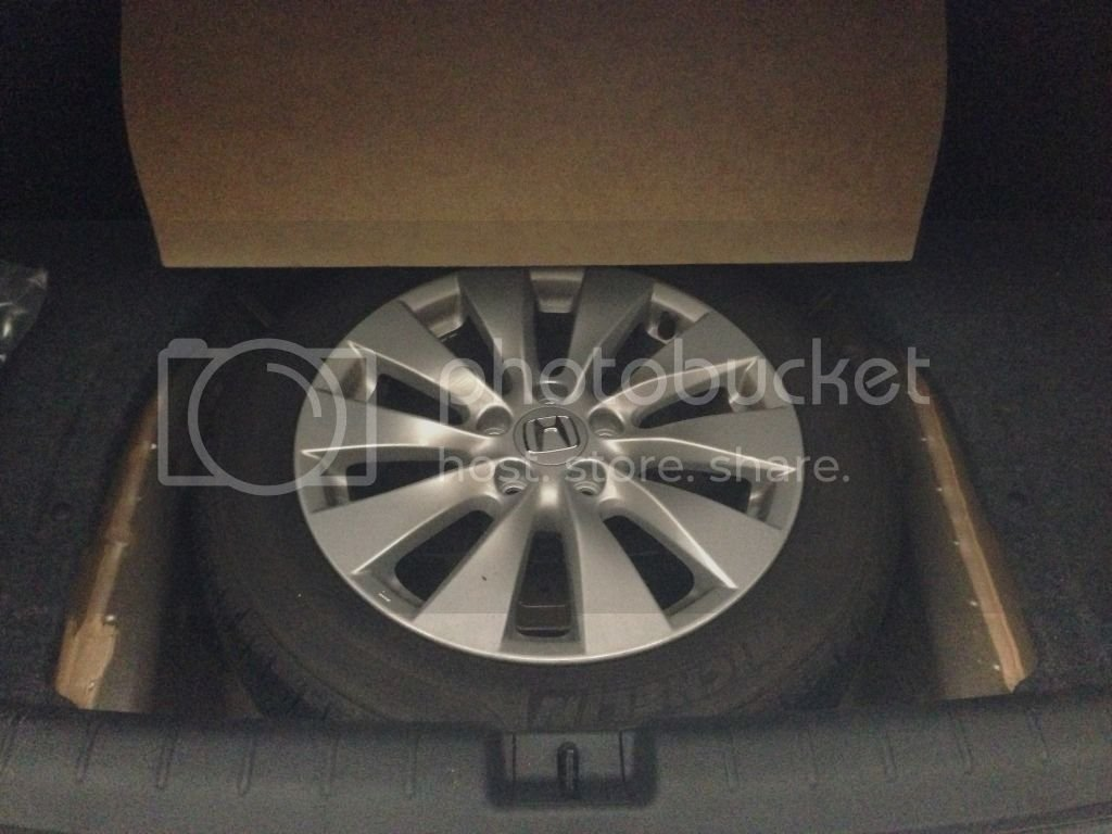How Big Is The Spare Tire Wheel Well Drive Accord Honda